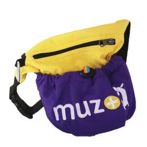 Pochette à friandises muzo + jaune/violet
