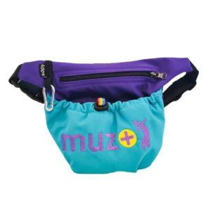 Pochette à friandises muzo + violet/turquoise