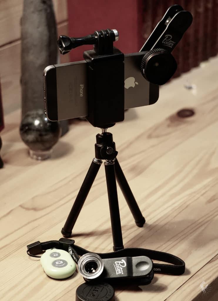 equipement d'un smartphone pour filmer chien analyse vidéo